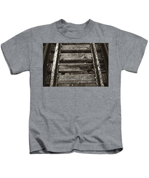 Narrow Gauge Tracks #photography #art #trains Kids T-Shirt