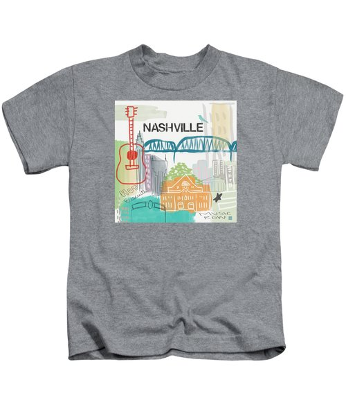 Nashville Cityscape- Art By Linda Woods Kids T-Shirt