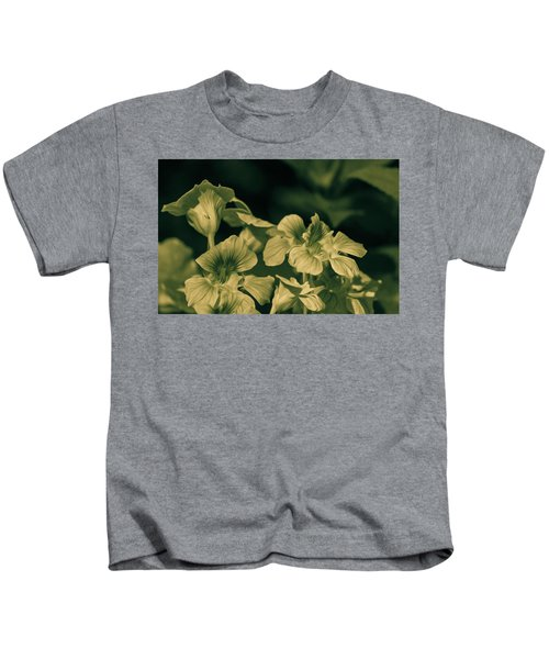 Nasturtium Black And White Kids T-Shirt