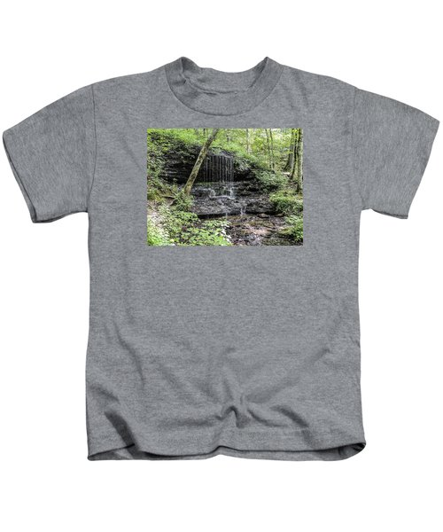 Natchez Trace Waterfall Kids T-Shirt