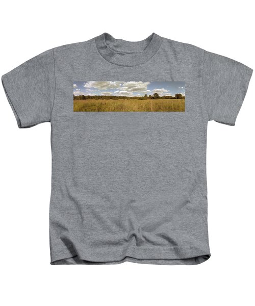 Natural Meadow Landscape Panorama. Kids T-Shirt