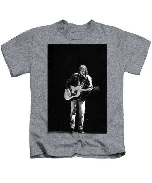 Neil Young Kids T-Shirt by Wayne Doyle