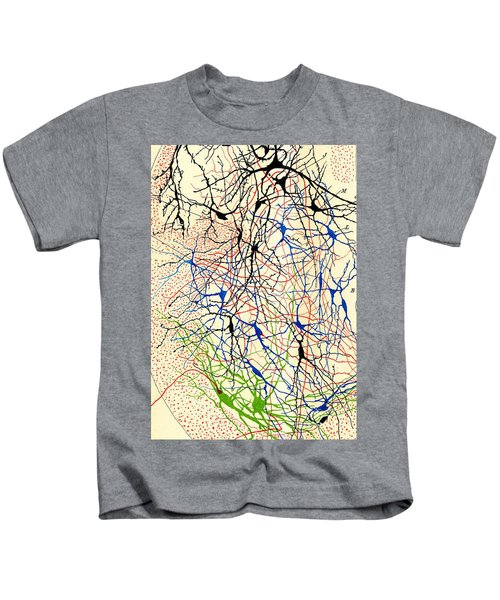 Nerve Cells Santiago Ramon Y Cajal Kids T-Shirt