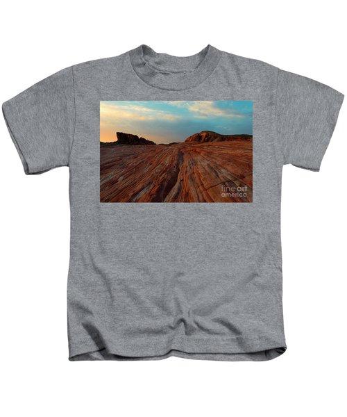 Nevada Sandstone Sunset Kids T-Shirt