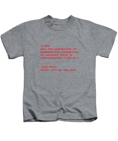 Never Tell Me The Odds Kids T-Shirt