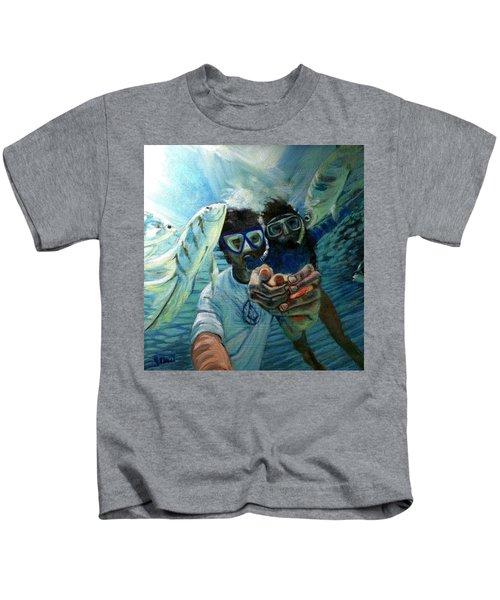 Honeymoon Selfie Kids T-Shirt
