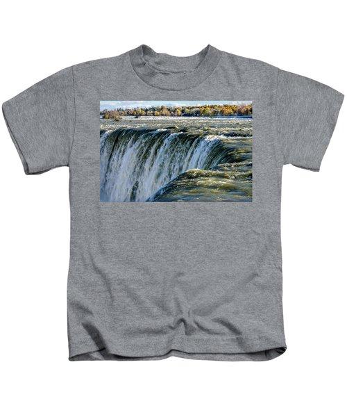 Niagara Falls In Autumn Kids T-Shirt