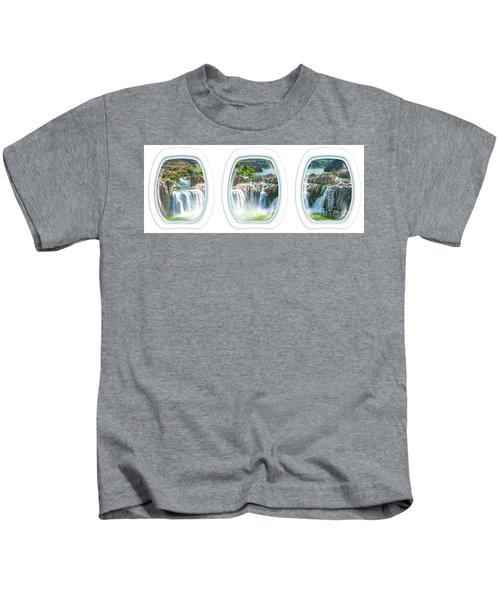 Niagara Falls Porthole Windows Kids T-Shirt