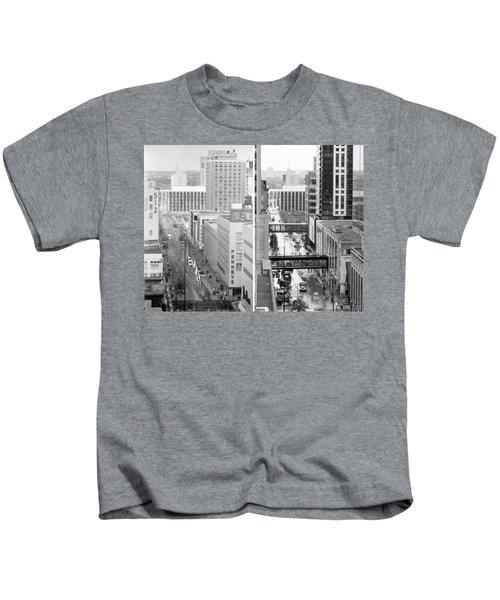 Nicollet Mall From Dayton's 12th Floor Kids T-Shirt