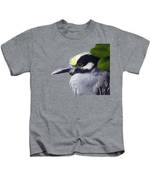 Night Heron Transparency Kids T-Shirt by Richard Goldman