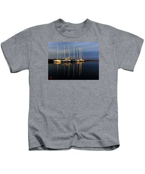Kids T-Shirt featuring the photograph Night On Paros Island Greece by Colette V Hera  Guggenheim