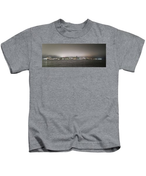 Night View Ocean City Downtown Skyline Kids T-Shirt