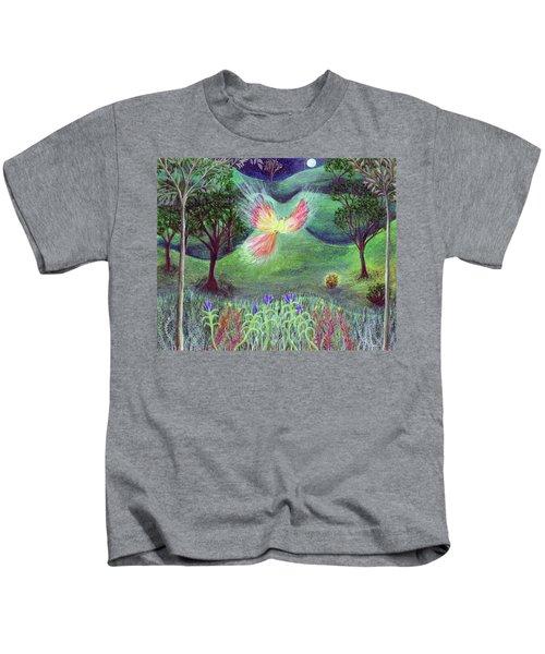 Night With Fire Bird And Sacred Bush Kids T-Shirt
