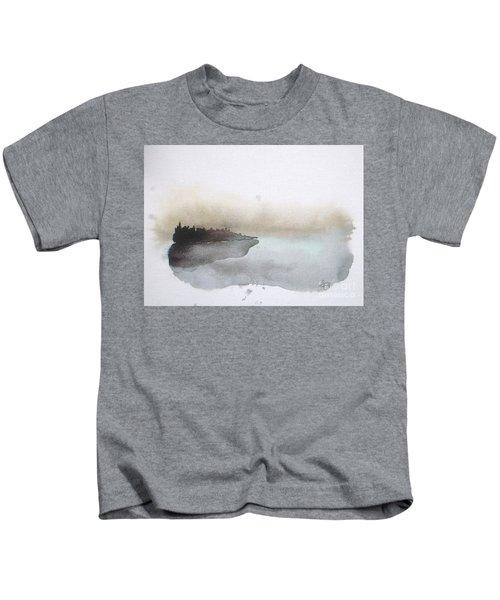 Nightfall On The Lake  Kids T-Shirt