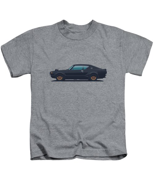 Nissan Skyline Gt-r C110 Side - Plain Black Kids T-Shirt