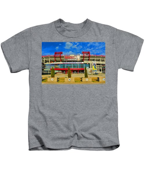 Nissan Stadium Home Of The Tennessee Titans Kids T-Shirt