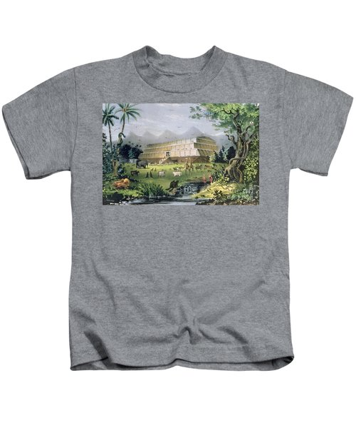 Noahs Ark Kids T-Shirt by Currier and Ives