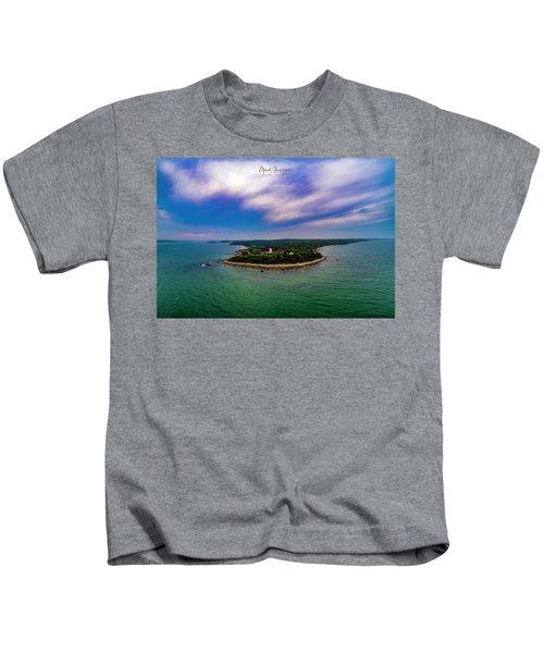 Nobska Lighthouse Panorama Kids T-Shirt