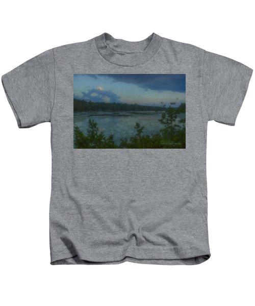 Nocturne At Ames Long Pond Kids T-Shirt