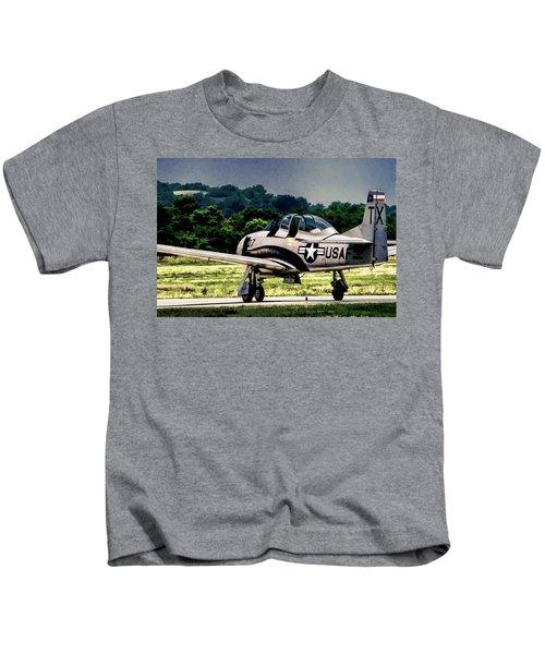North American T-28 Trojan V7 Kids T-Shirt