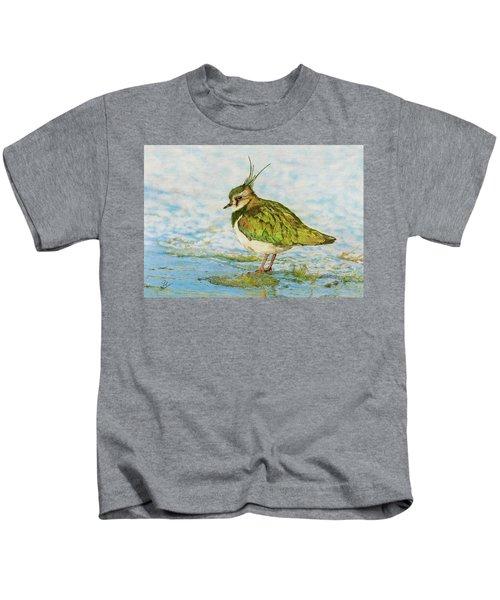 Northern Lapwing Kids T-Shirt by John Birnie