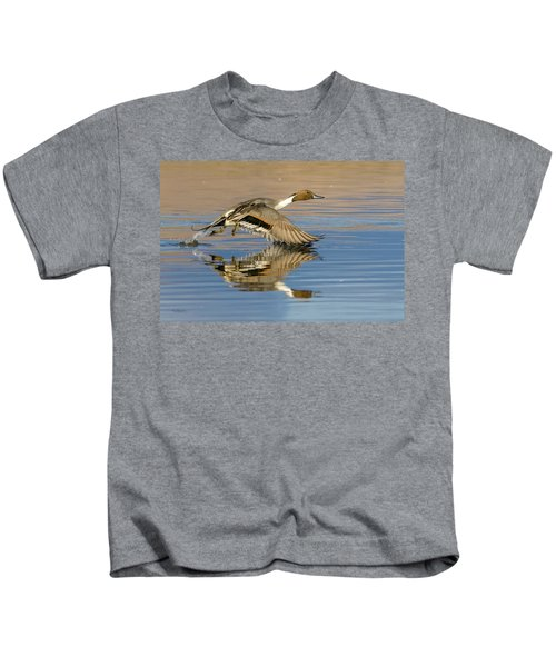 Northern Pintail With Reflection Kids T-Shirt
