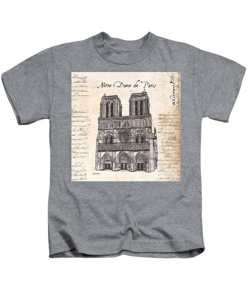 Notre Dame De Paris Kids T-Shirt