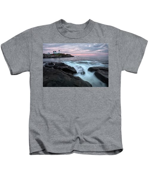Nubble Lighthouse Of Maine Kids T-Shirt