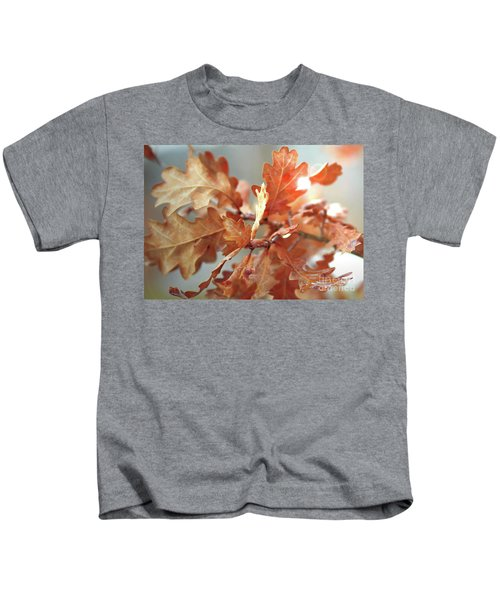 Oak Leaves In Autumn Kids T-Shirt