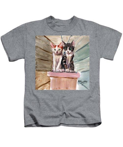 Obi And Lisa Two Kittens Kids T-Shirt