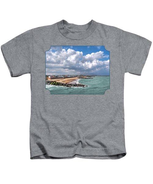Ocean View - Colorful Beach Huts Kids T-Shirt