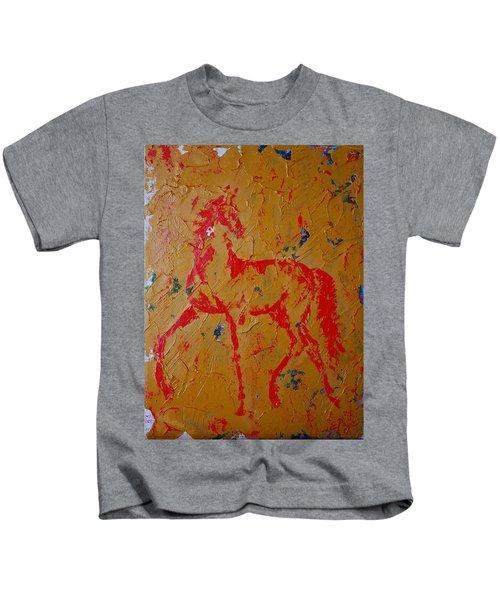 Ochre Horse Kids T-Shirt