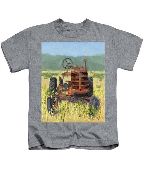 Offset High Crop Kids T-Shirt