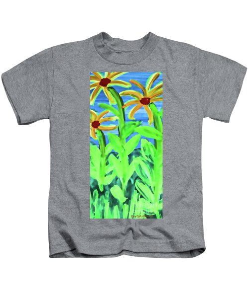 Oh Glorious Day Floral Kids T-Shirt
