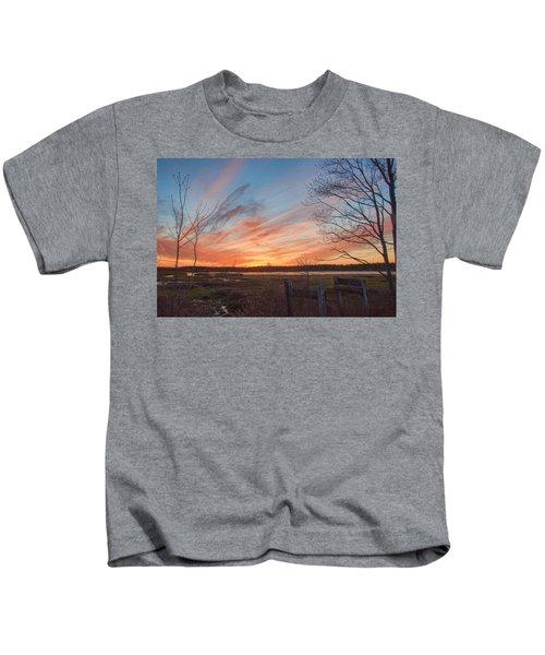 Old Bog Sunset Kids T-Shirt
