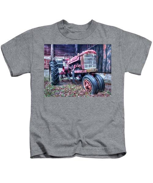 Old Farm Tractor Kids T-Shirt