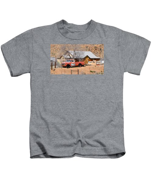 Old Farm Trucks Along Route 66 Kids T-Shirt
