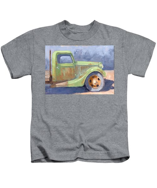 Old Green Ford Kids T-Shirt