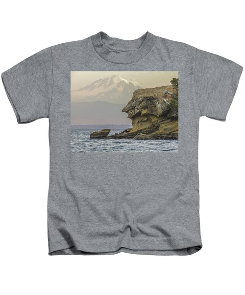 Old Man And The Mountain Kids T-Shirt