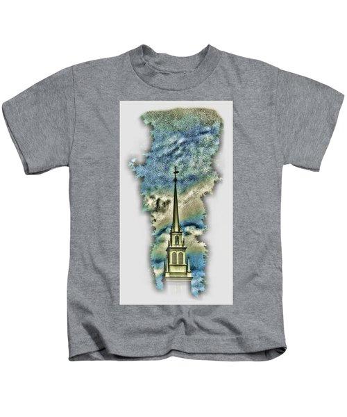 Old North Church Steeple Kids T-Shirt