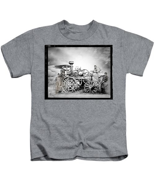 Old Steam Tractor Kids T-Shirt