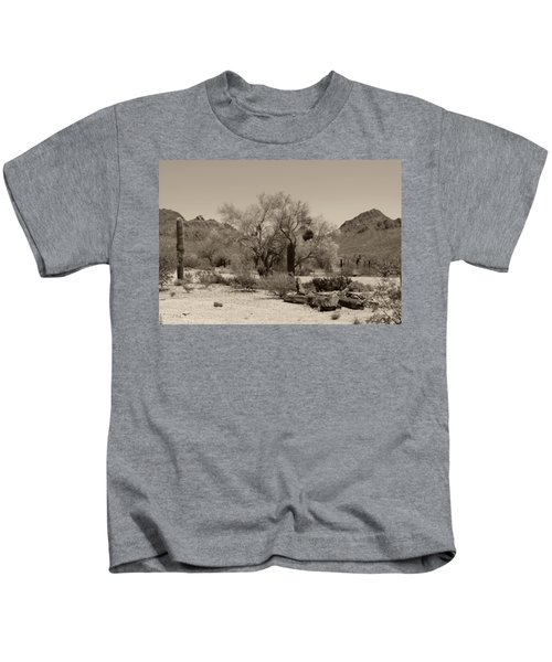 Old Tucson Landscape  Kids T-Shirt
