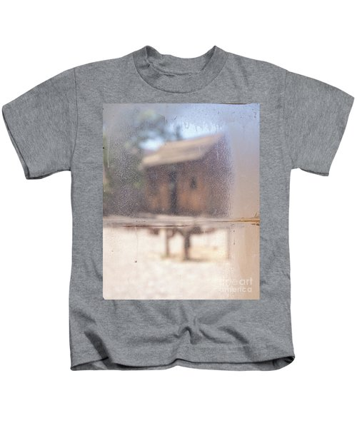 Old Western Town Through The Glass Kids T-Shirt