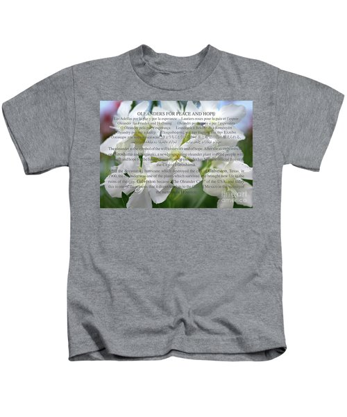 Oleanders For Peace And Hope Kids T-Shirt