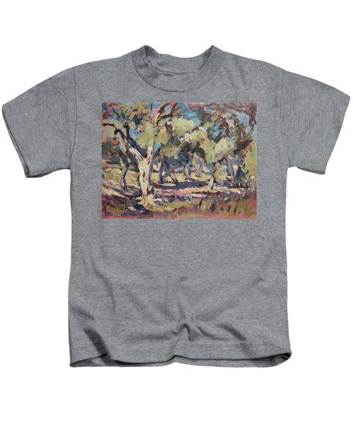 Olive Grove Along Marmari Beach Paxos Kids T-Shirt