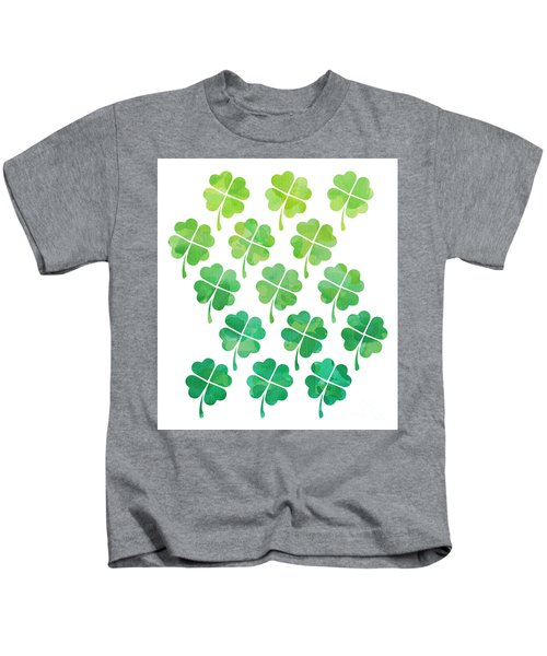 Ombre Shamrocks Kids T-Shirt