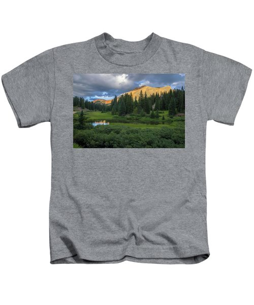 Ominous Clouds Over Red Mountain Pass Kids T-Shirt
