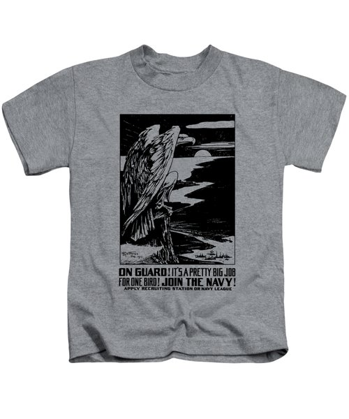 On Guard - Join The Navy Kids T-Shirt