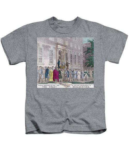 On July 4, 1776 Members Of The Second Kids T-Shirt