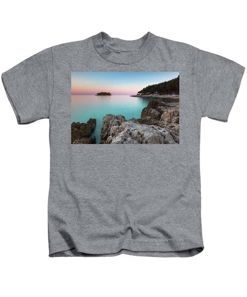 On The Beach In Dawn Kids T-Shirt